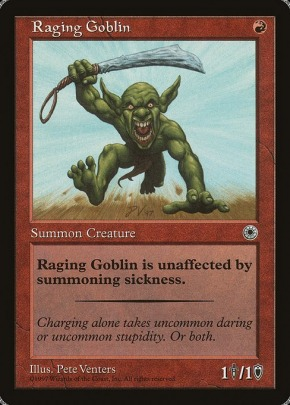 haste * Mtg 4x Raging Goblin-Exodus